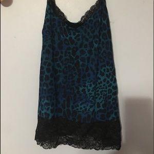 Lane Bryant Leopard Print Cami W/Longer Lace 14/16